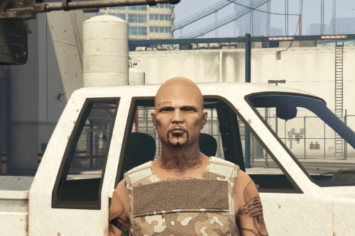 [MP Male] Gangster Face Tattoo
