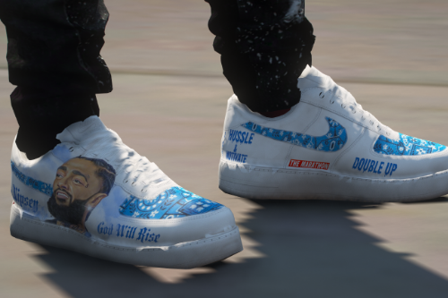 Nipsey Hussle Air Force 1 Texture for MP Male