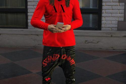 Red Armani Exchange Shirt for MP Male