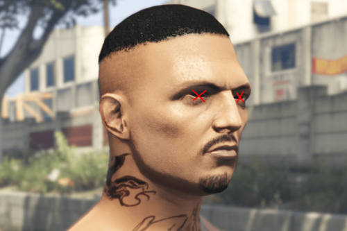 Snake Head Recolored Tattoo [MP Male]