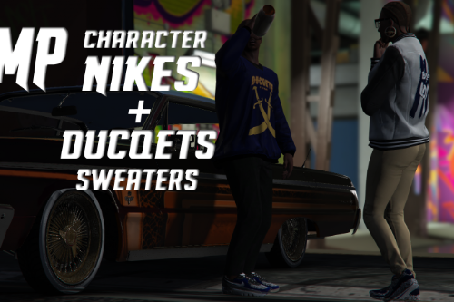 MP Nikes + Ducqets Sweater