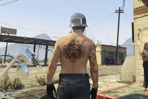 MP tattoo Mayns logo