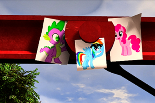 My Little Pony - Images of Ponies at Trevor's car!