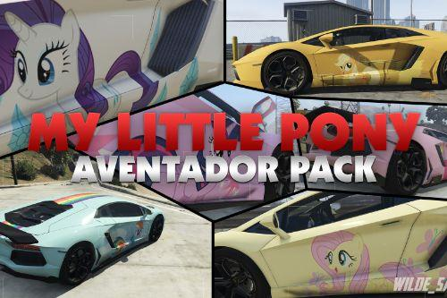 """My Little Pony: """"Mane 6"""" Aventador Skin Pack"""