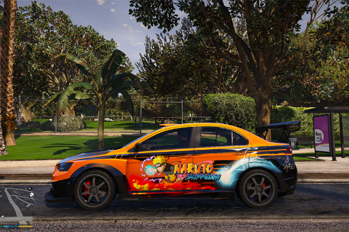 NARUTO tuner liveries for Mitsubishi Evolution X