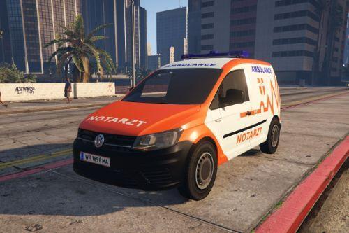 NEF-Wiener Berufsrettung VW(Volkswagen)-Caddy | Notarzteinsatzfahrzeug  | Österreich | Austrian Ambulance