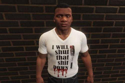 "Negan ""I Will Shut That Shit Down"" T-shirt"