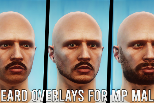 New Beard Overlays for MP Male