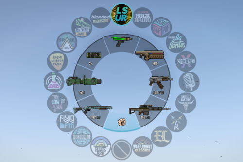 NEW Colorful HUD Icons (Weapons, Radio & Map Blips)
