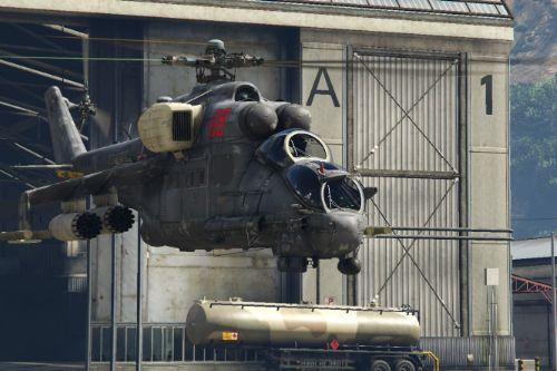 New handling for Mi-24P Hind