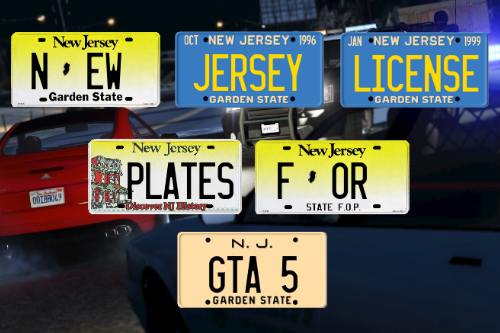 New Jersey License Plates [4K]