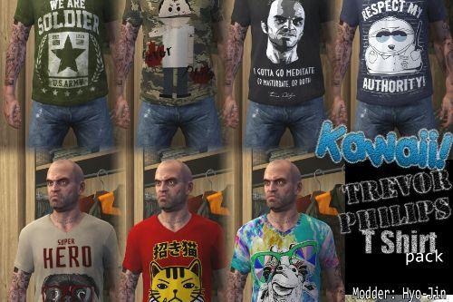 New Kawaii Trevor Philips T Shirt Pack (3k 3072 Pixel)