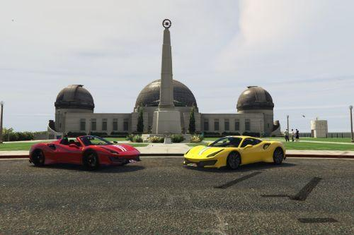 New liveries for Team [DTD]'s 488 Pista / Spider