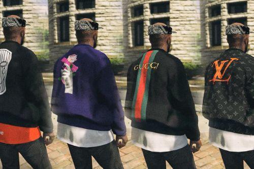 New Style BomberJacket (Gucci, Fendi, Louis Vuitton, Nike) [MP / FiveM Ready]