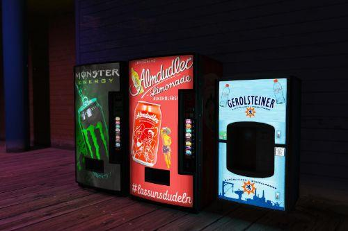 New Vending Machines / Neue Automaten - Almdudler, Monster Energy & more