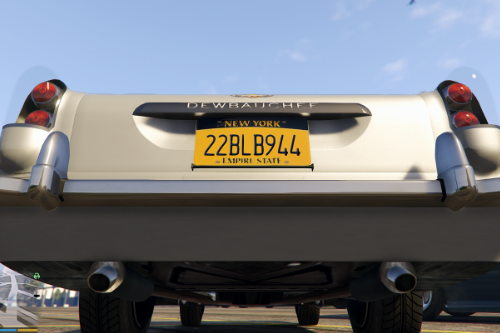 New York State License plate mod