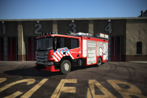 Next gen Scania Dutch firetruck