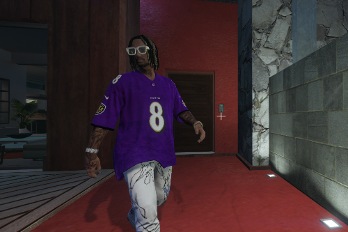 NFL Baltimore Ravens Lamar Jackson 4k jersey