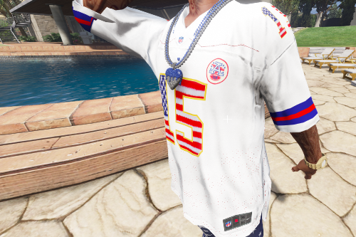 NFL - Chiefs Patrick Mahomes Custom USA Flag Jersey