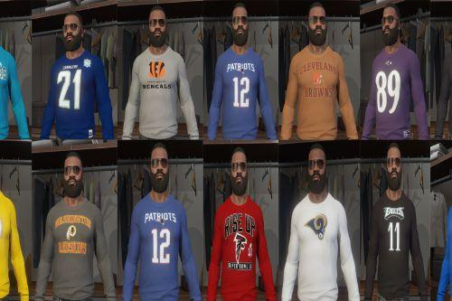 NFL Long Sleeve T-Shirt Pack: All 32 teams