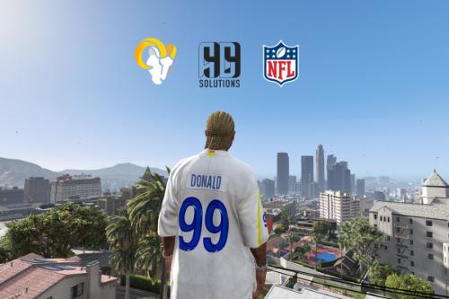 NFL - Los Angeles Rams Aaron Donald 4K Away Jersey