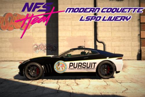 NFS Heat Modern Coquette LSPD Livery