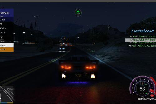 NFS gauge  - RPM Gear Speedometer & Timer