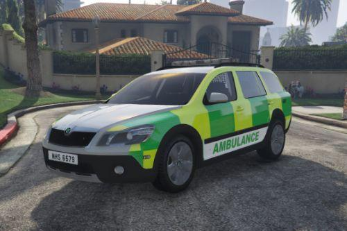 NHS Skin (Fictional) For 2010 Skoda Octavia Scout Ambulance
