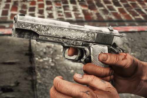 Nickel & Ivory M1911