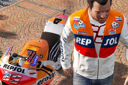 Nicky Hayden Repsol Honda Alpinestars Jacket for Michael