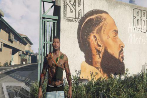 Nipsey Hussle Mural In The Hood