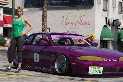 Nissan 240SX S14 Zenki D1 Ladies League Livery