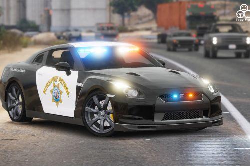 Nissan GTR - CHP Highway Patrol (slicktop)