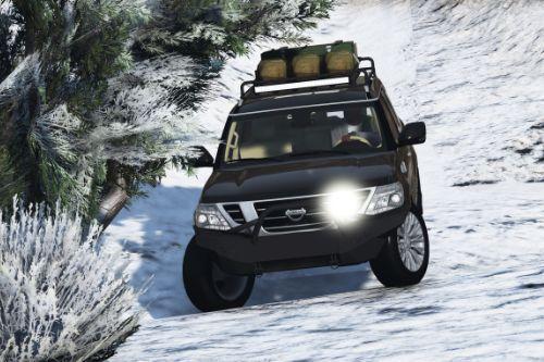 Nissan Patrol Platinum 2014 off road [Replace | Extras]