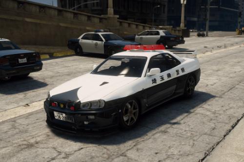 Nissan Skyline GT-R34 (BNR34) 2002 Police
