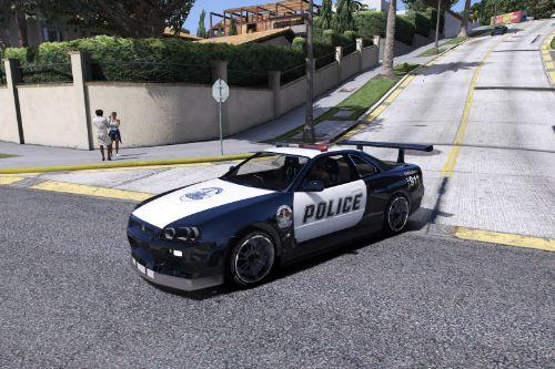 Nissan R34 Skyline Police [Replace | Template]