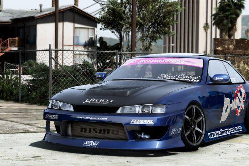 Nissan Silvia K's 1998 S14 Kouki [Add-On | Tuning | Template | RHD]