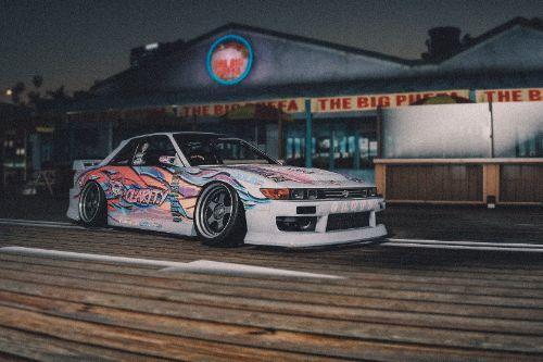 Nissan Silvia S13 Drift Livery ( Team Clarity )
