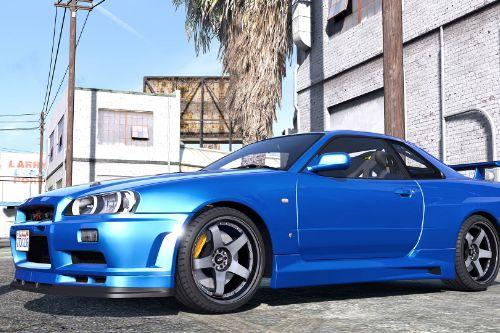Nissan Skyline GT-R 34 2002 [Add-On / Replace | Animated | Template]