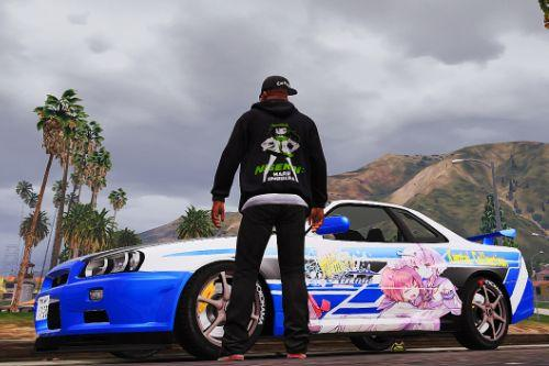 Nissan Skyline GT-R (BNR34) Itasha Livery