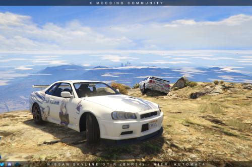 Nissan Skyline GT-R (BNR34) - NieR: Automata Paintjob