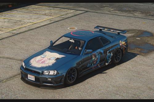 Nissan Skyline GT-R R34 (Kimetsu No Yaiba)