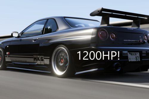 Nissan Skyline GTR-R34 Realistic Handling, Top Speed, Dial Fix and Aceleration