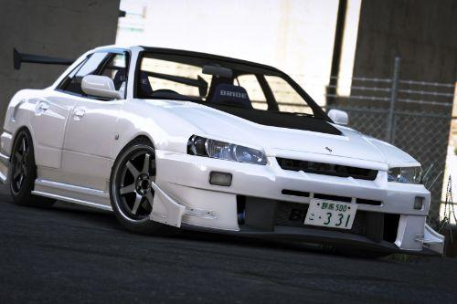 URAS-SKYLINE ER34 D1-Spec/Type-GT [Add-On | Tuning | RHD | Template]