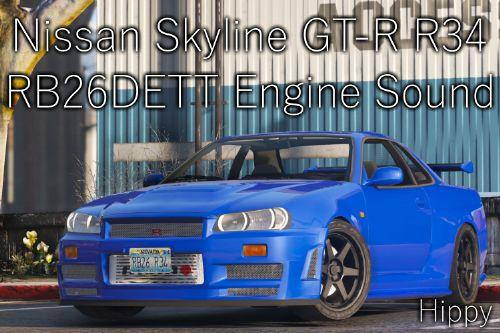 0dff22 nissan skyline gt r r34 rb26dett engine sound