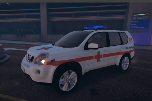Pack of Nissan X-trail 2 Liverys[Cruz Roja Española,Policia Local Galicia].