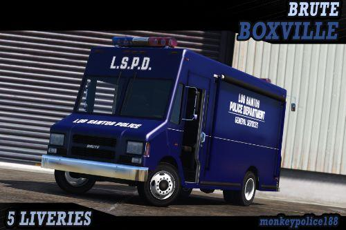 NOOSE / LSPD Police Boxville [Add-On | Liveries | Template]