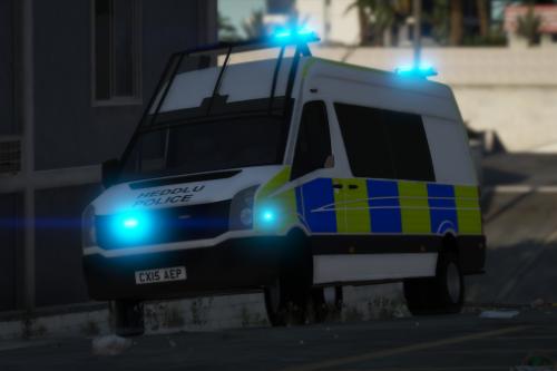 North Wales Police 2015 Volkswagen Crafter Public Order van