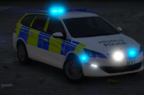 North Wales Police 2017 Peugeot 308 Estate IRV