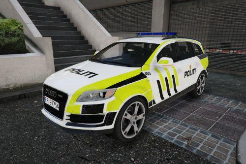 Norwegian Audi Q7 2009 police car